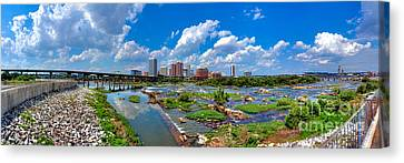 South Of The Rivah Canvas Print by Tim Wilson