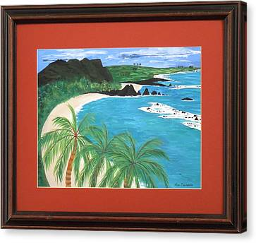 Canvas Print featuring the painting South Pacific by Ron Davidson