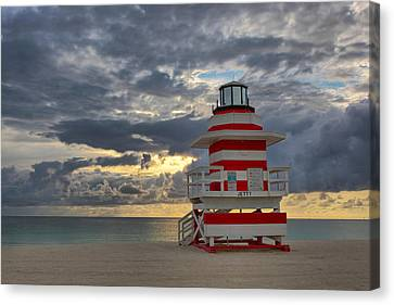 South Pointe Park Lighthouse Canvas Print by Claudia Domenig