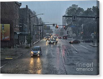 South Side In The Rain Canvas Print by Thomas R Fletcher