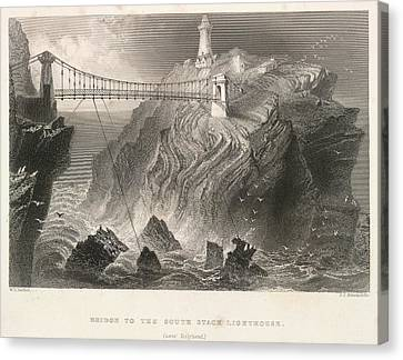 South Stack Lighthouse Canvas Print by British Library