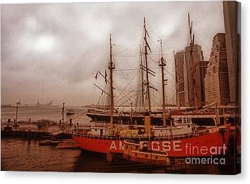 South Street Seaport Canvas Print - South Street Seaport by Skip Willits