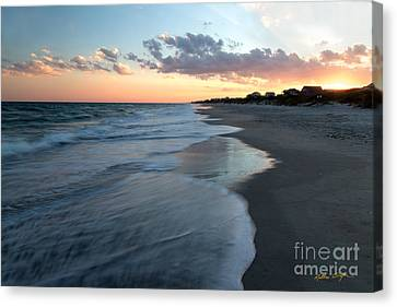 South Topsail Beach Sunset 2014 Canvas Print