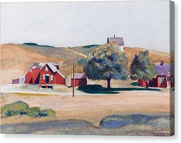 South Truro Post Office I Canvas Print by Edward Hopper