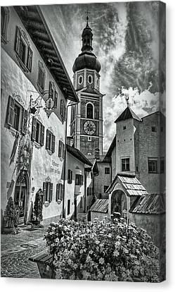 South Tyrol B/w Canvas Print by Hanny Heim