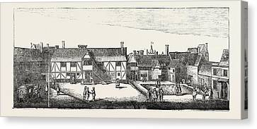 South View Of Arundel House In 1646 London Uk Canvas Print