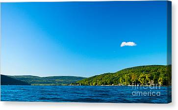 South View Of Canandaigua Lake Canvas Print by Steve Clough