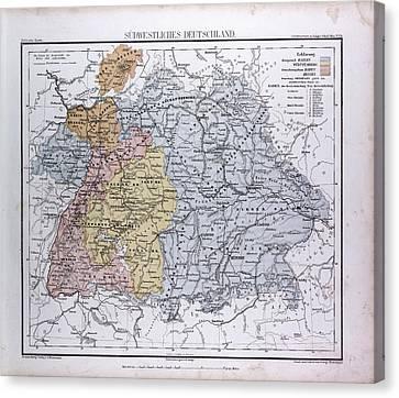 South West Germany, Sudwestliches Deutschland Canvas Print