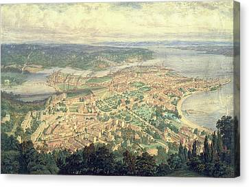 Southampton In The Year 1856 Canvas Print