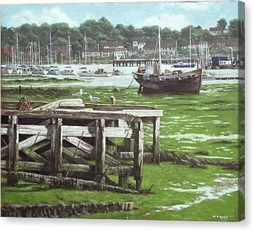 Southampton Northam River Itchen Mudflats Canvas Print