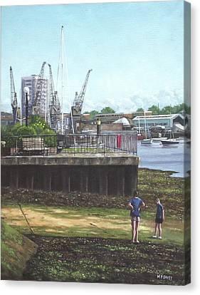 Southampton River Itchen Chapel Tredegar Wharf Canvas Print by Martin Davey