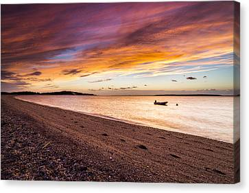 Southampton Shores Sunset Canvas Print by Ryan Moore