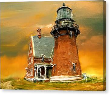 Block Island Canvas Print - Southeast Glow by Lourry Legarde