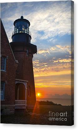 Block Island Canvas Print - Southeast Lighthouse Block Island  by Diane Diederich