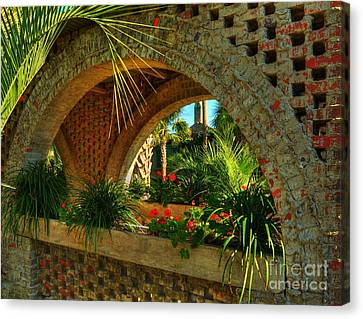 Southern Arches Canvas Print by Mel Steinhauer