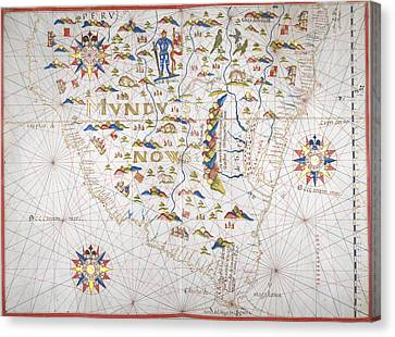 Southern Coast Of South America Canvas Print by British Library
