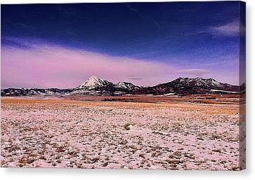 Canvas Print featuring the photograph Southern Colorado Mountains by Ron Roberts