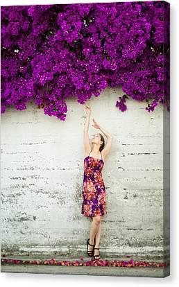 Southern Flowers Canvas Print by Viacheslav Savitskiy