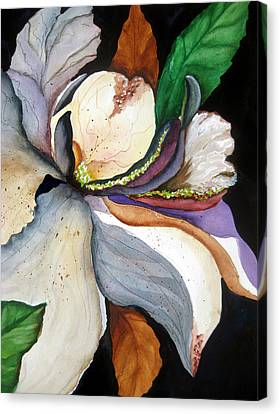 Canvas Print featuring the painting White Glory II by Lil Taylor
