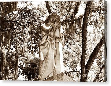 Headstones Canvas Print - Southern Girl by John Rizzuto