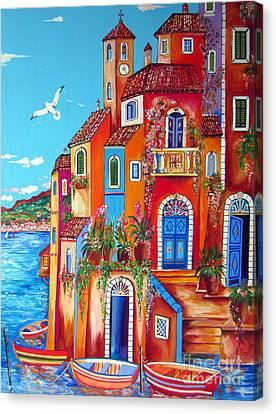 Southern Italy Amalfi Coast Village Canvas Print