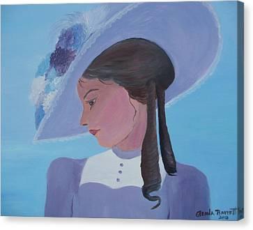 Southern Lady Canvas Print by Glenda Barrett