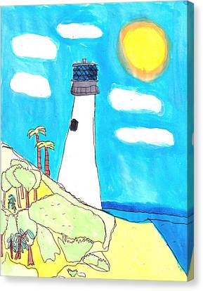 Southern Lighthouse Canvas Print by Artists With Autism Inc