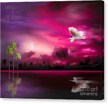 Canvas Print featuring the painting Southern Magic by S G