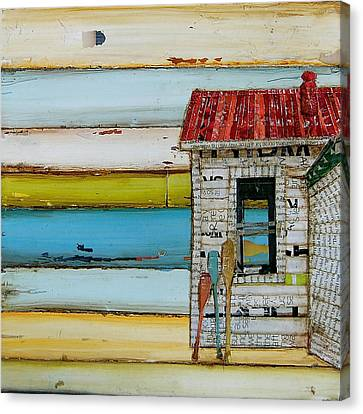 Southern Maine Beach Shack Canvas Print by Danny Phillips
