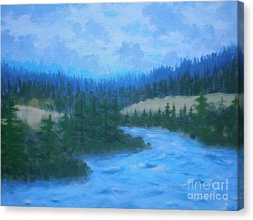 Canvas Print featuring the painting Southern Oregon Waters by Suzanne McKay