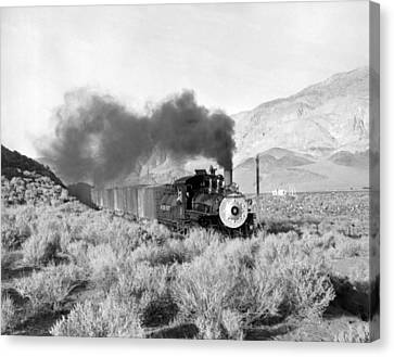 Land Feature Canvas Print - Southern Pacific Locomotive by Underwood Archives