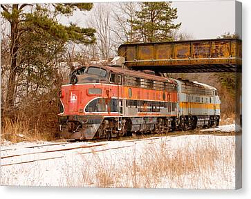 Southern Railroad Of New Jersey Locomotive Canvas Print