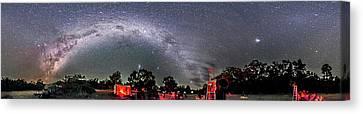 Southern Sky Panorama 2 Rectangular Canvas Print by Alan Dyer