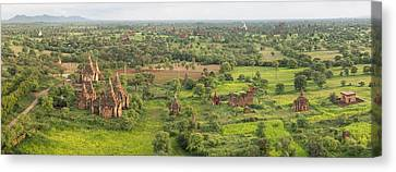 Southern View Of Stupas Seen From Top Canvas Print by Panoramic Images