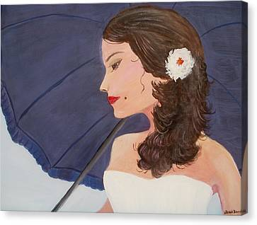 Southern Woman Canvas Print by Glenda Barrett