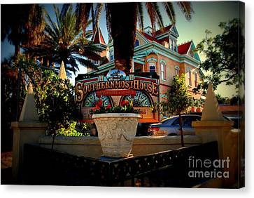 Southernmost House In Key West Florida Canvas Print by Susanne Van Hulst