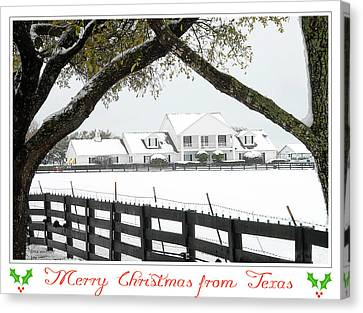 Southfork Christmas Canvas Print by Dyle   Warren