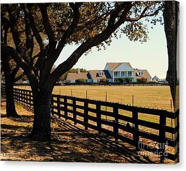 Southfork Ranch - Across The Pasture Canvas Print by Robert ONeil