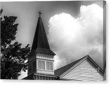 Southport Church Tower Mono Canvas Print by John Rizzuto