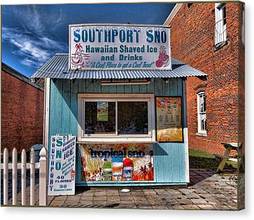 Southport Sno Canvas Print by Don Margulis