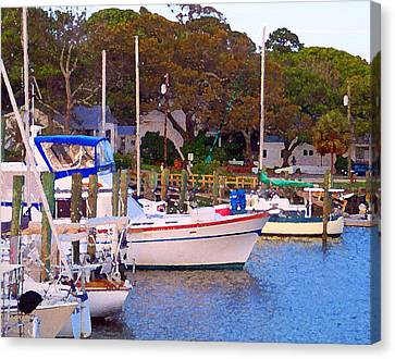 Southport Watercolor Canvas Print by Garland Johnson