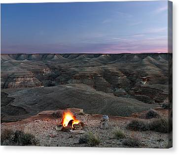Southwest Camp Canvas Print by Leland D Howard