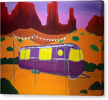 Southwest Contemporary Art - Sedona Twilight Canvas Print by Karyn Robinson