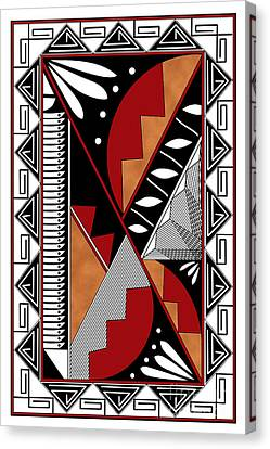 Hightower Canvas Print - Southwest Collection - Design Seven In Red by Tim Hightower
