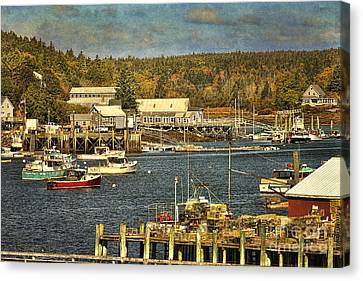 Southwest Harbor Canvas Print by Cindi Ressler