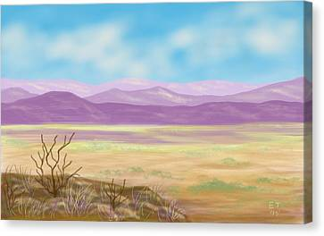 Southwest Panorama Canvas Print by Ellie Taylor