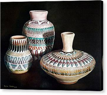 Southwest Pottery Canvas Print by Linda Becker