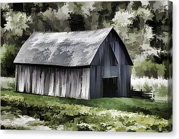 Southwest Wisconsin Barn Painted Canvas Print by Thomas Young