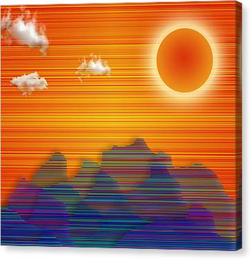 Canvas Print featuring the digital art Southwestern by Bruce Rolff