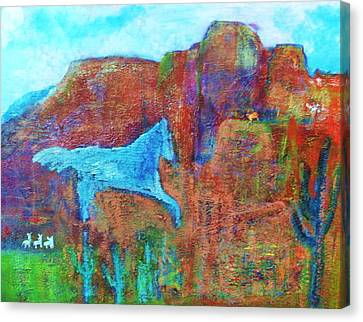 Southwestern Dreamscape  Canvas Print by Anne-Elizabeth Whiteway